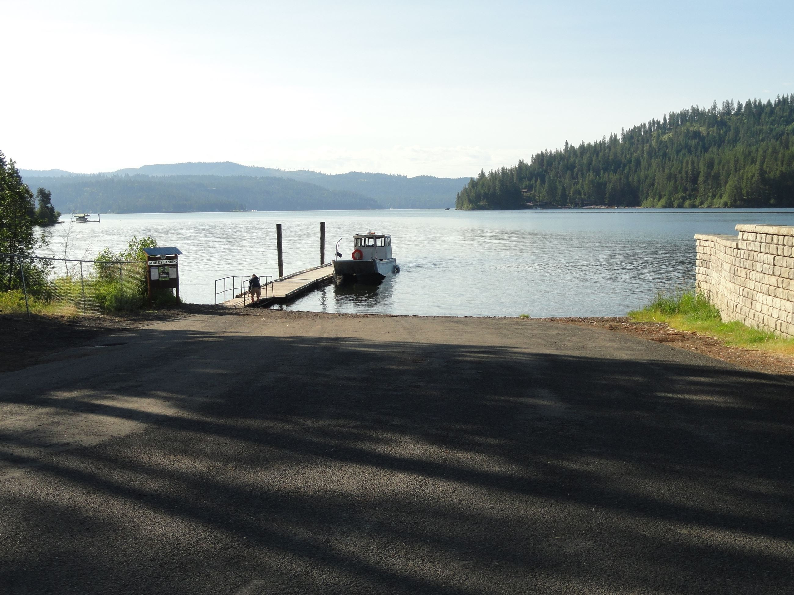 Boat launch leading to lake