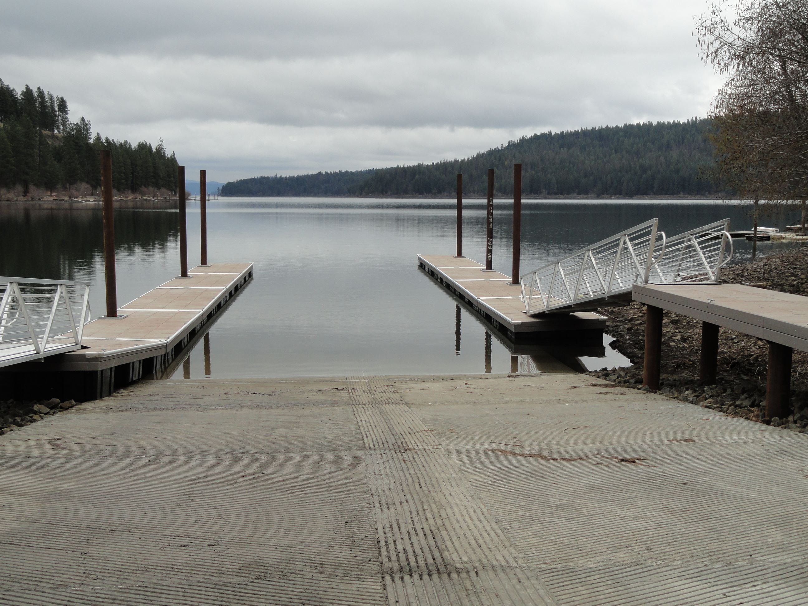 Sunup Bay boat launch and docks
