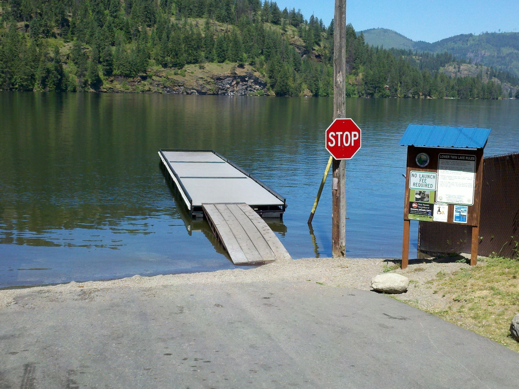 Image of dock beside boat launch