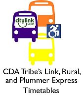 CDA Tribes Link, Rural and Plummer Express Timetables
