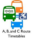 A, B and C Route Timetables
