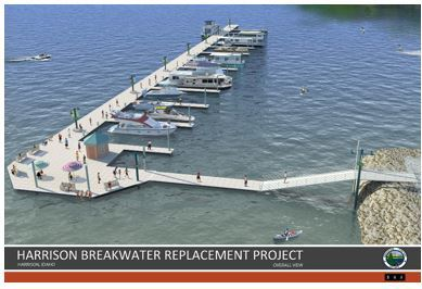 Digital rendering breakwater replacement