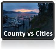 County vs Cities