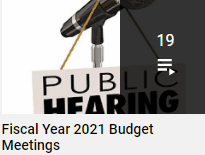 FY2021 Budget Hearings Opens in new window